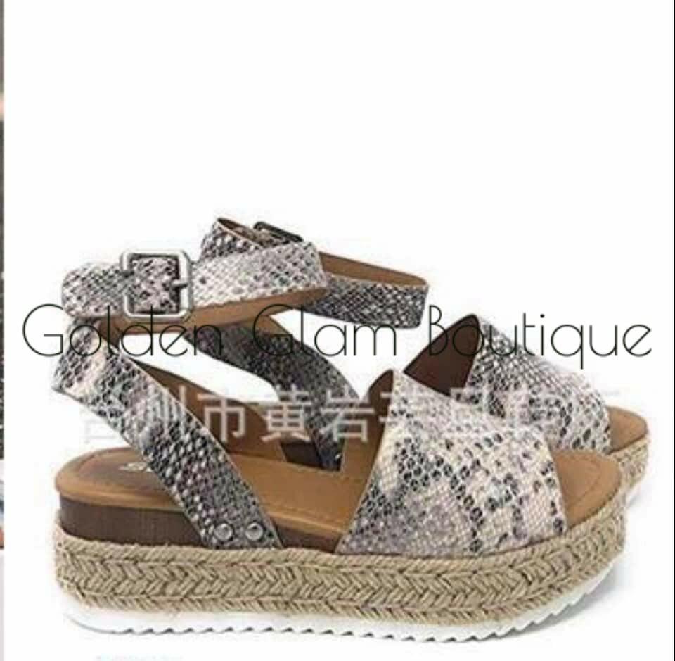 Image of Snakeskin Sandals