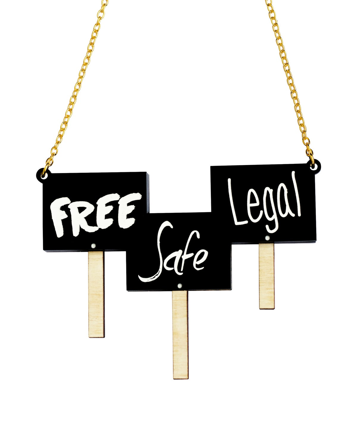 Image of Free Safe Legal Necklace Black