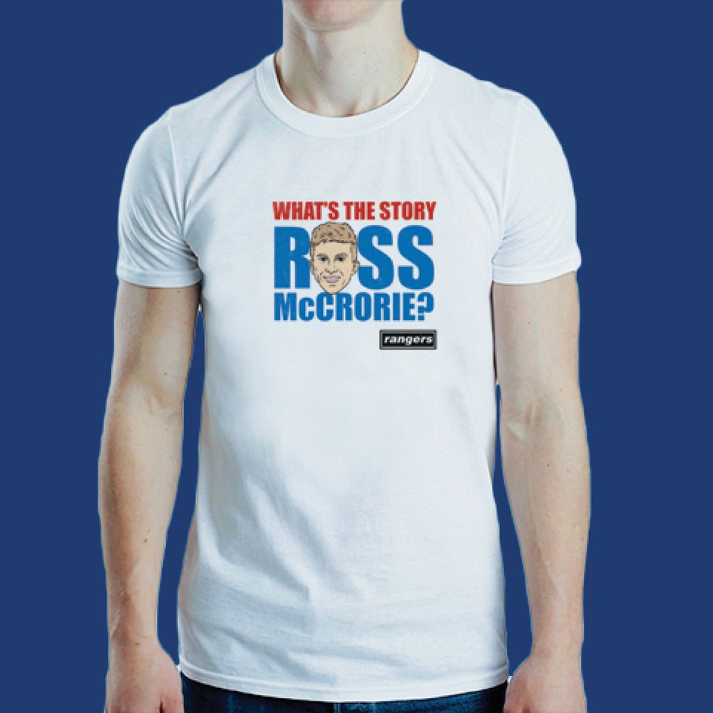 Image of What's the story Ross McCrorie? t-shirt