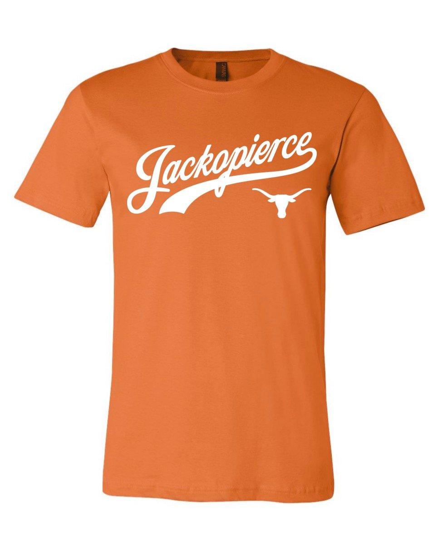 Image of JP Longhorn Shirt - Men's/Unisex Cut - Burnt Orange/White