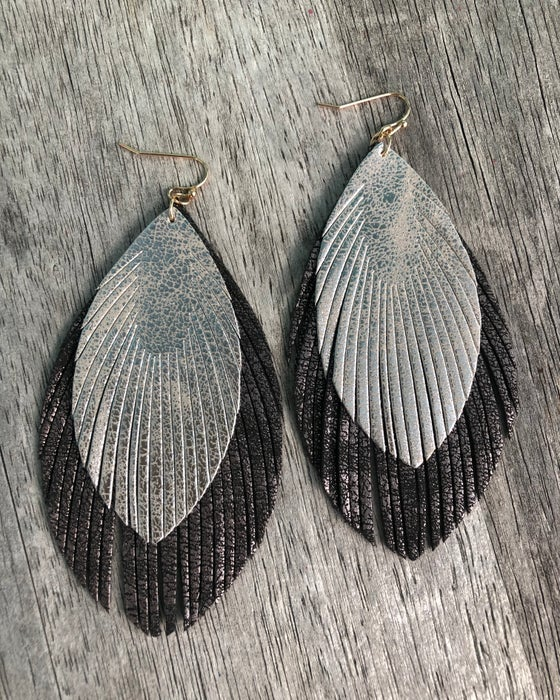 Image of Katrina feather earrings
