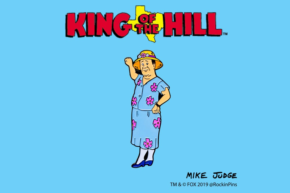 Image of King of the Hill - Bill as Lenore Enamel Pin
