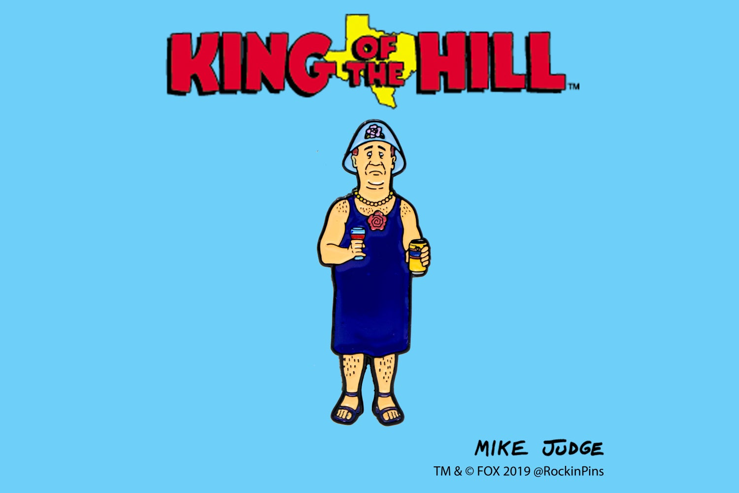 Image of King of the Hill - Bill in Dress Enamel Pin