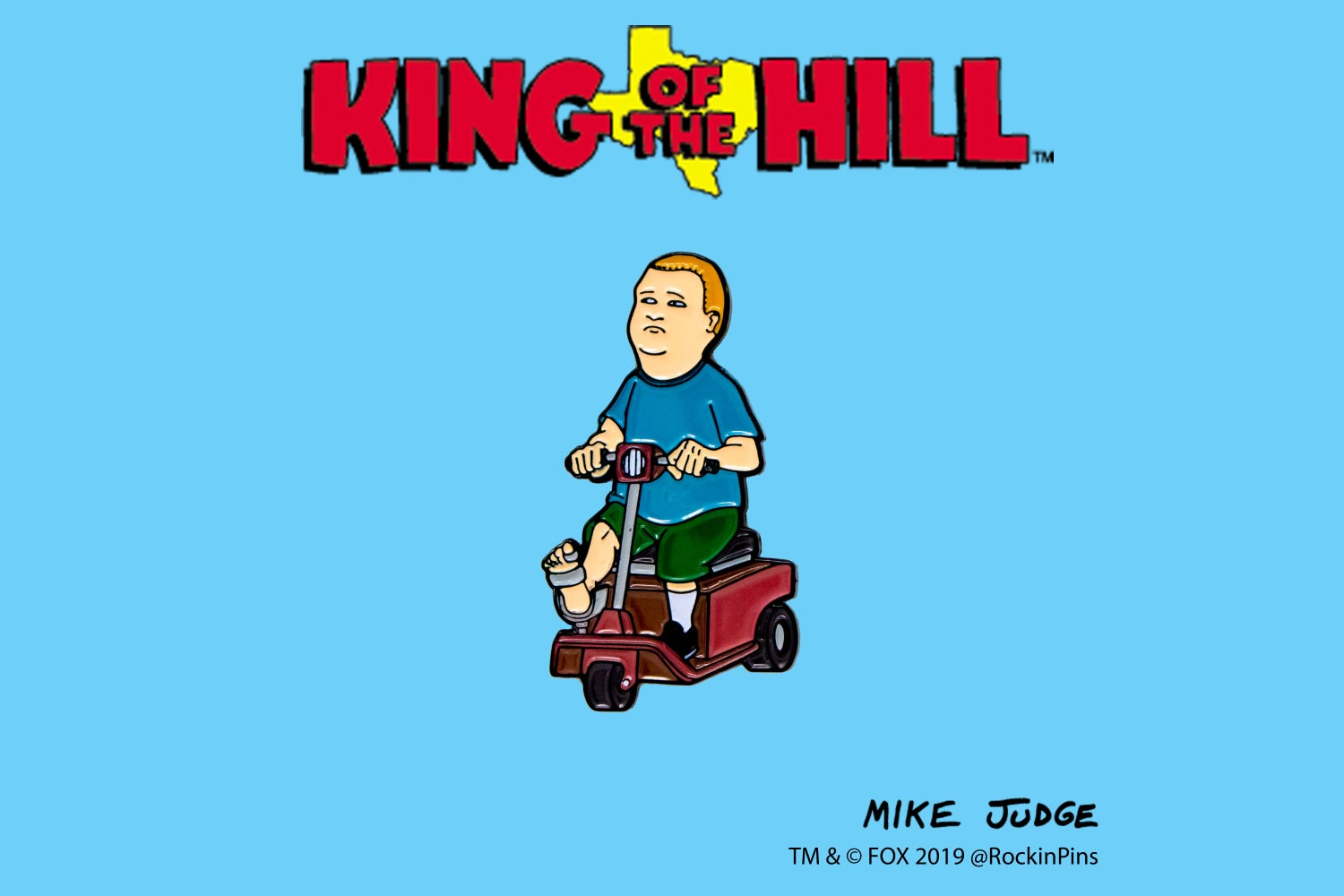 Image of King of the Hill - Bobby in Rascal Enamel Pin