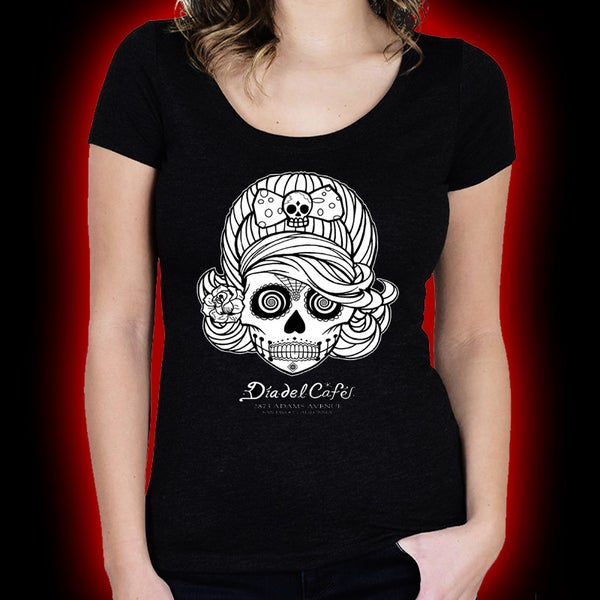 Image of Dia Del Cafe - Day of the Dead ( Ladies ) shirt