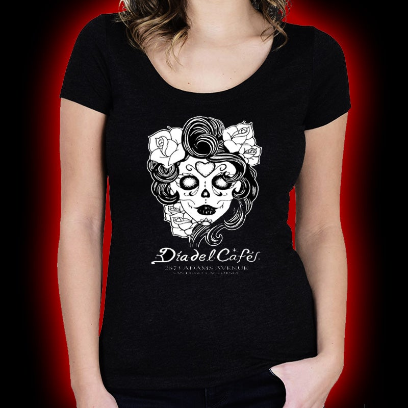 Image of Dia Del Cafe - Day of the Dead #2 (Ladies) shirt