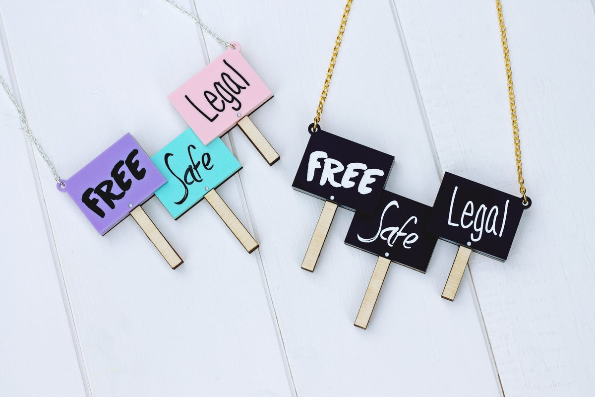 Image of Free Safe Legal Necklace Pastel