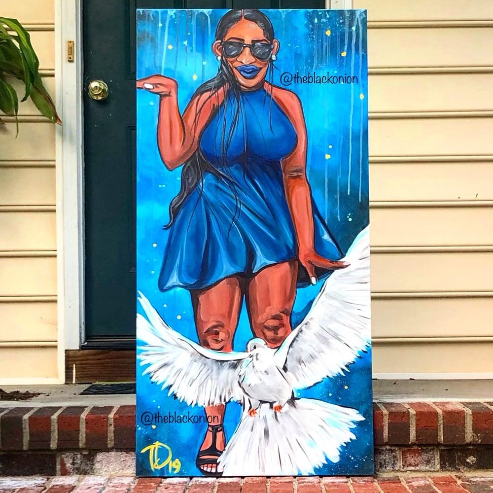 Image of ROYAL BLUE & WHITE (canvas print)