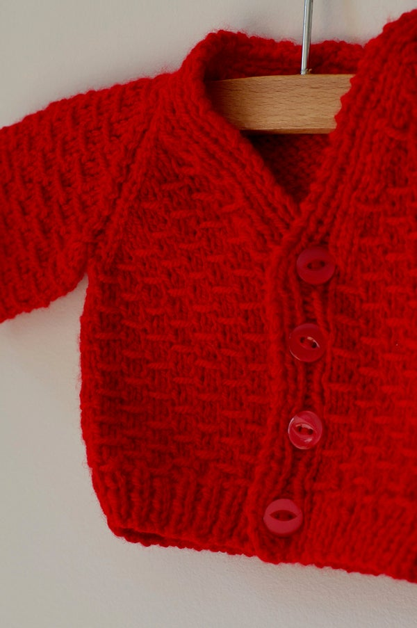 Image of Knitted Cardigan - Red