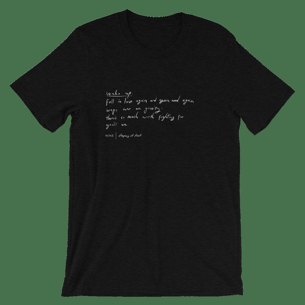 "Image of ""Nine"" Handwriting Shirt"