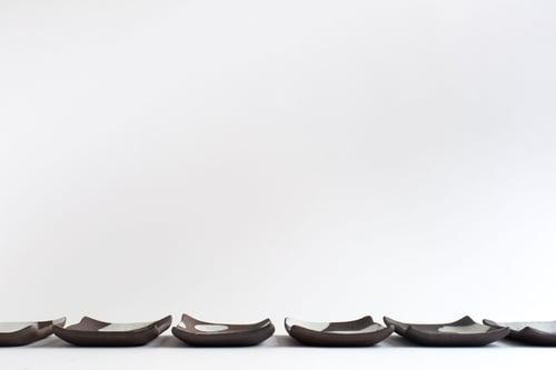 Image of Black and White Large Soap Dish