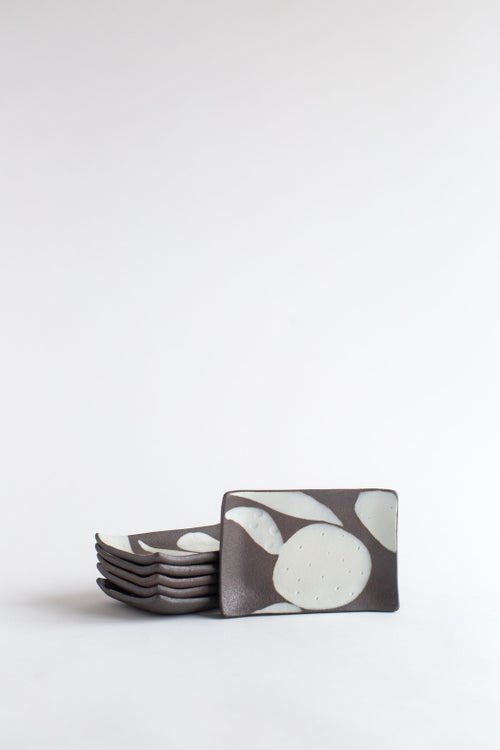 Image of Black and White Large Soap Dish