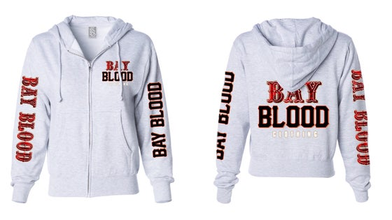 Image of Ladies Frisco Bay Blood Zip up (Grey)