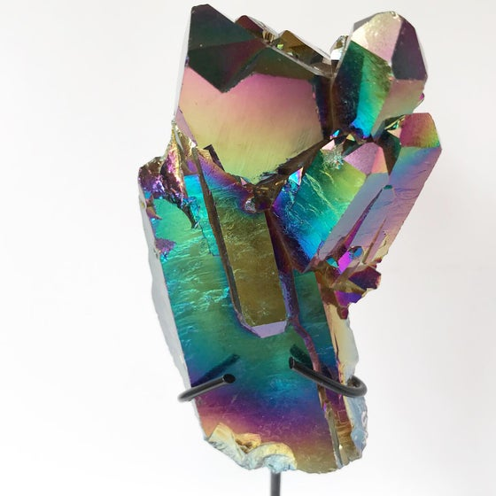 Image of  Titanium Coated Quartz no.01 Scarab Collection Matte Black Pairing