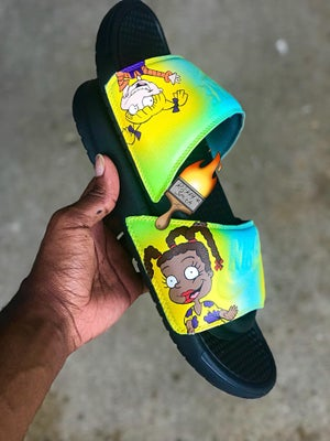Image of PICK-A-THEME NIKE SLIDES (All Sizes )