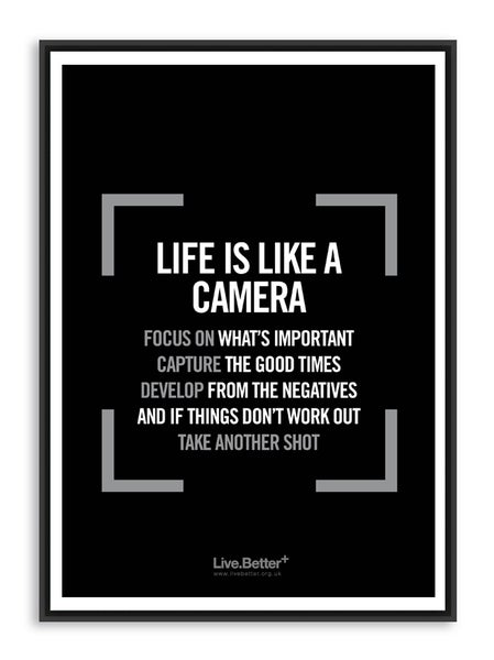 Image of Life is like a camera
