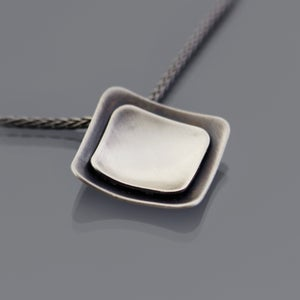 Image of Sterling Silver Layered Square Necklace