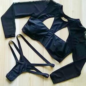 Image of Black Marvel Mesh Bikini