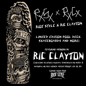 Image of Riot Style x Ric Clayton Cyco Fatboy Pool Skate Deck