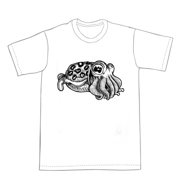 Image of Cuttlefish T-shirt **FREE SHIPPING**