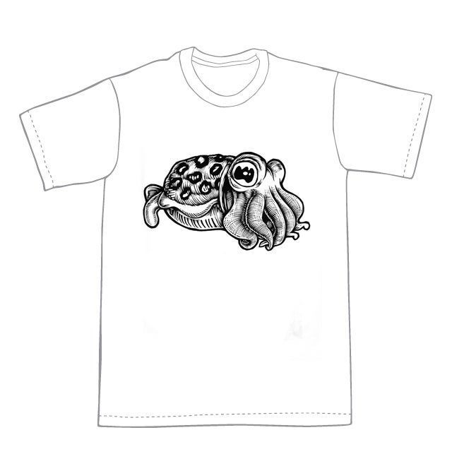 Cuttlefish T-shirt (A1) **FREE SHIPPING**