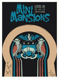 Image of MINI MANSIONS UK Tour Poster (SIGNED!!!)