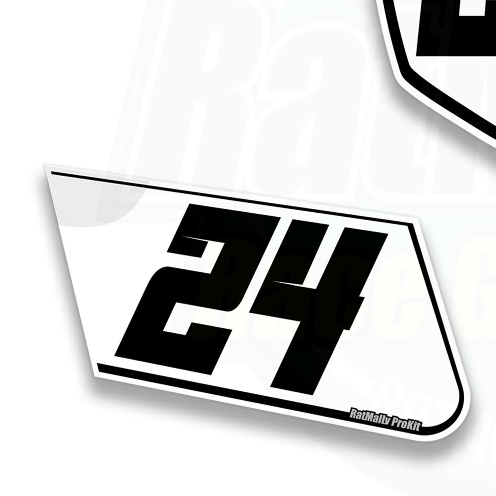 Image of Race Number Boards to fit Aprilia RSV4 (all)