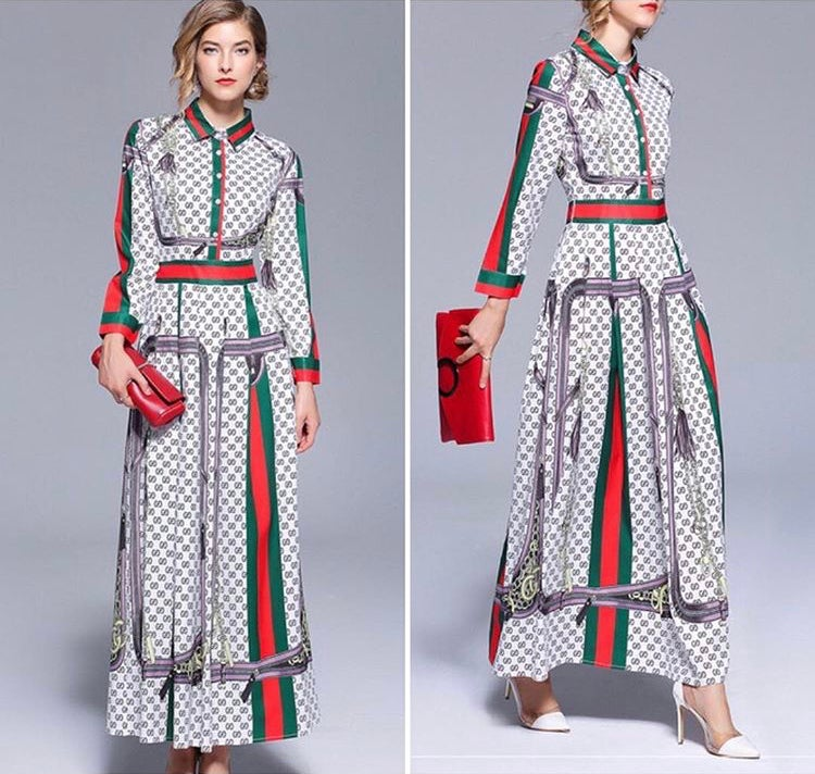 Image of Gucci Inspired Me Maxi Dress