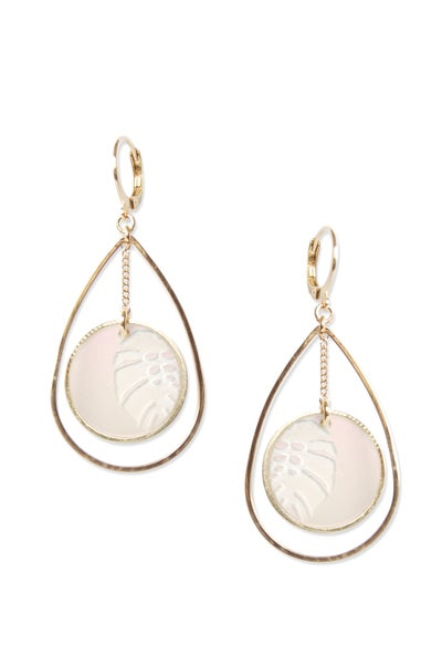 Image of Boucles d'oreilles MONSTERA DUO