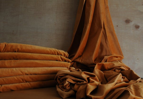 Image of NO 70. HAND DYED VELVET LENGTHS - 7 AVAILABLE