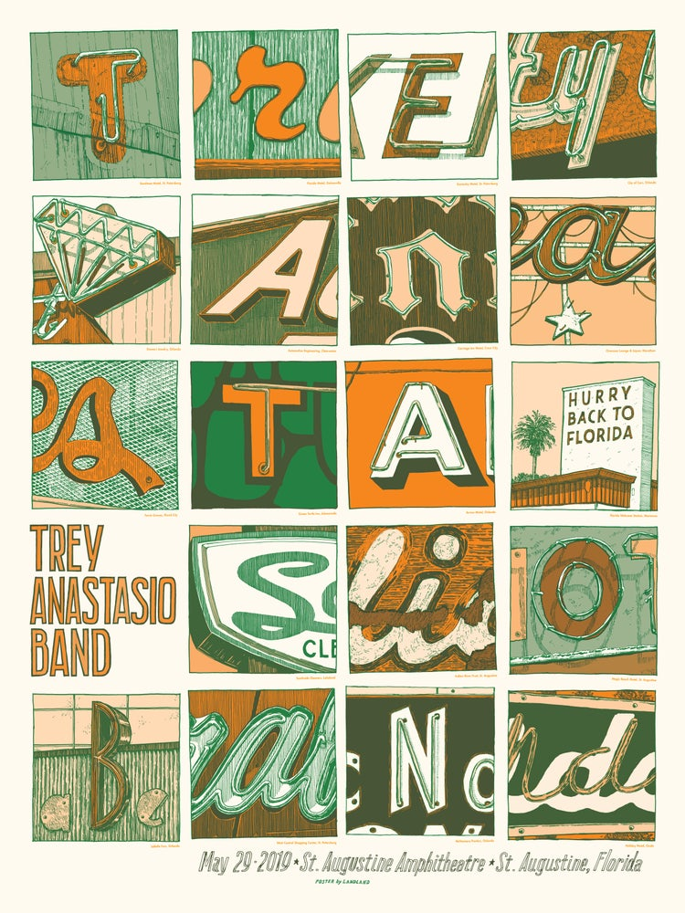 "Image of Trey Anastasio Band (St. Augustine, Florida) • L.E. Official Poster (18"" x 24"")"
