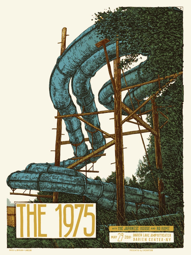 "Image of The 1975 (Darien Center, New York) • L.E. Official Poster (18"" x 24"")"