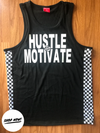 Hustle and Motivate Checkered Tanks