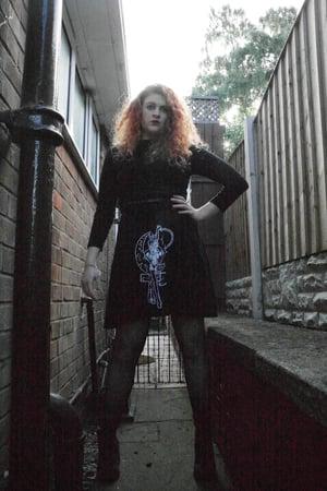 Image of Spaghetti Strap Skater Dress