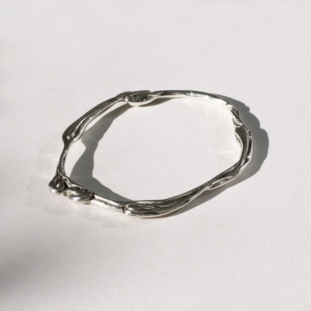 Image of Silver Wave Bangle
