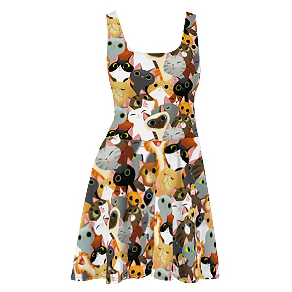 Image of Cat Crowd Dress