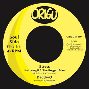 """Image of OUT NOW 7"""" DADDY-O - PSYCHEDELIC SALLY B/W STRESS FEATURING R.A. THE RUGGED MAN (ORIGU45-010)"""