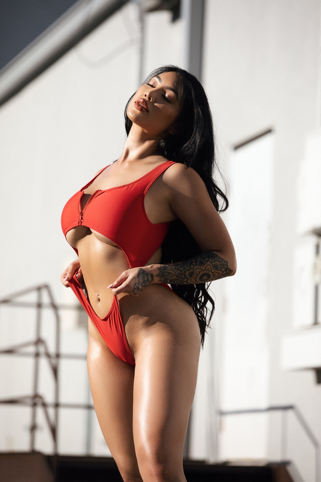 Image of Marie Bodysuit Red