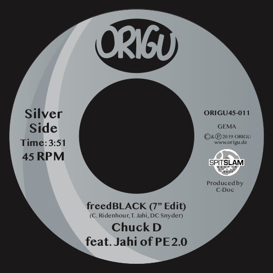 "Image of OUT NOW 7"" CHUCK D FEATURING JAHI OF PE2.0 - freedBLACK (7"" EDIT) B/W BLACKNIFICENT REMIXX"
