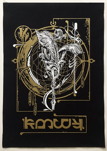 "Image of "" Manifest "" Back Patch ( With Lettering )"