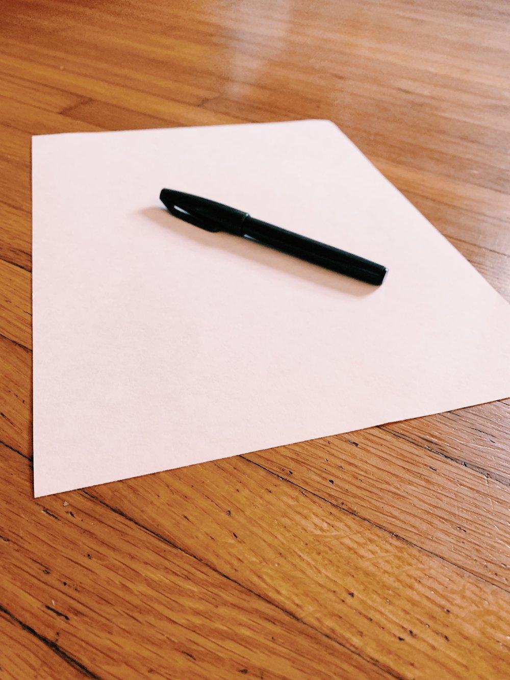 Image of Signed Handwritten Lyric Prints