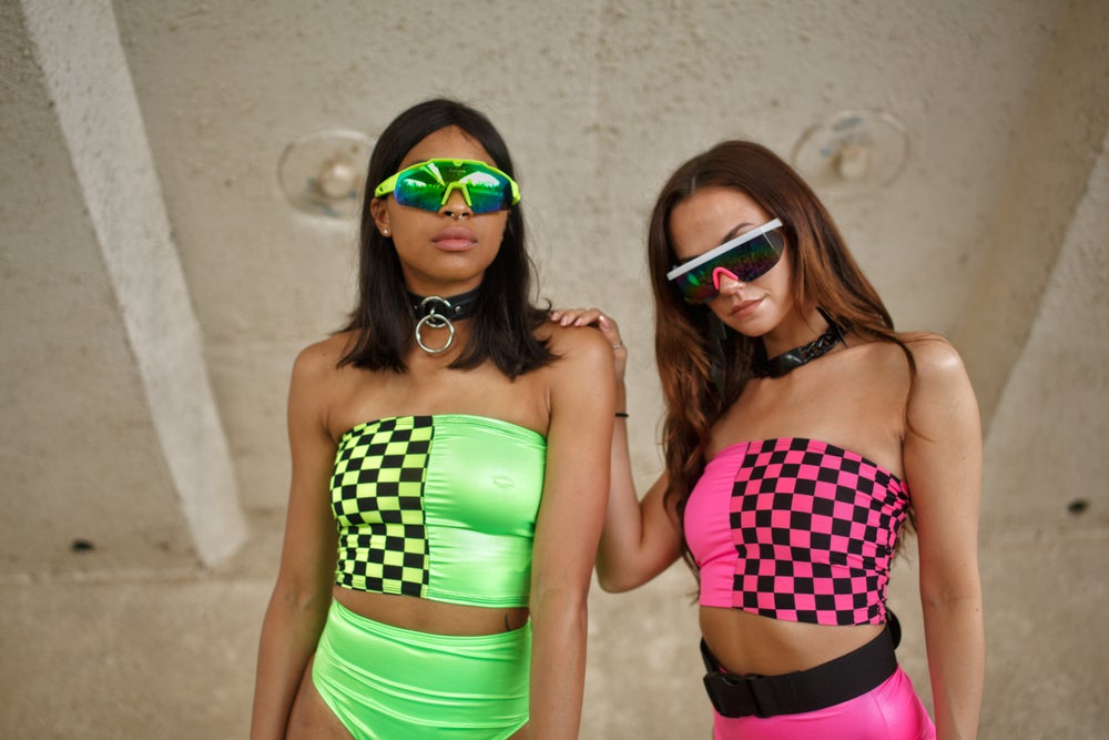 Image of Green & Checkered Tube Top