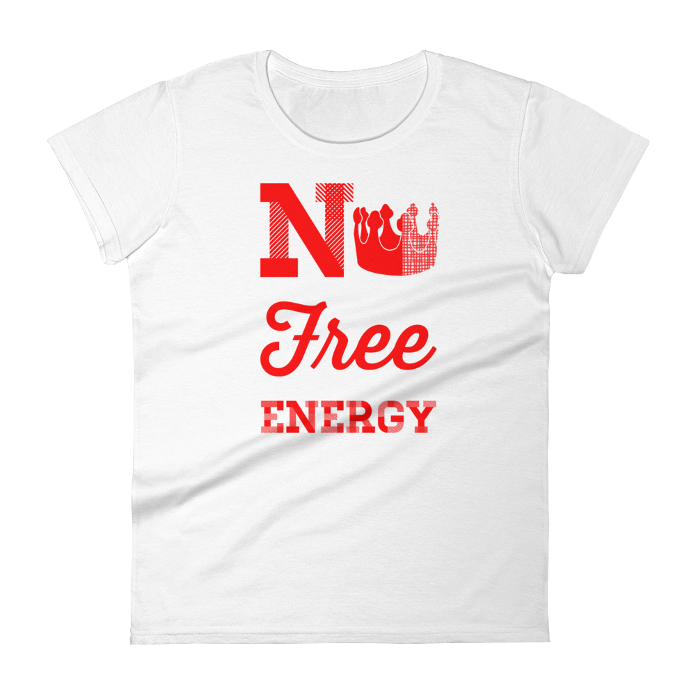 Image of No Free Energy Tee - White