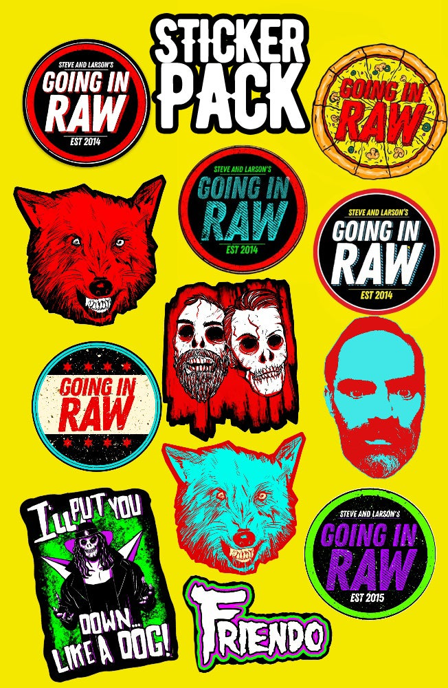 Image of Going In Raw Sticker Pack