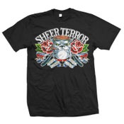 "Image of SHEER TERROR ""Classic Bulldog Traditional Flash"" T-Shirt"