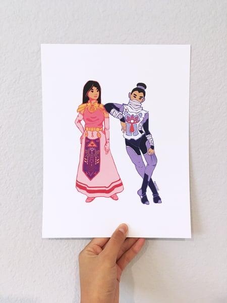 Image of Sheik and Zelda...but Mulan