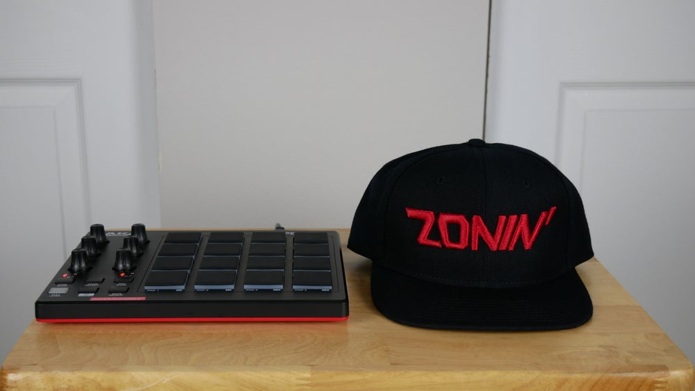 Image of Zonin' Title Snapback (Black & Red)