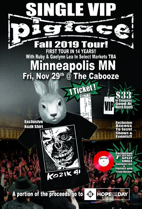 Image of VIP Single Ticket Fri. Nov. 29th Minneapolis, MN @ The Cabooze