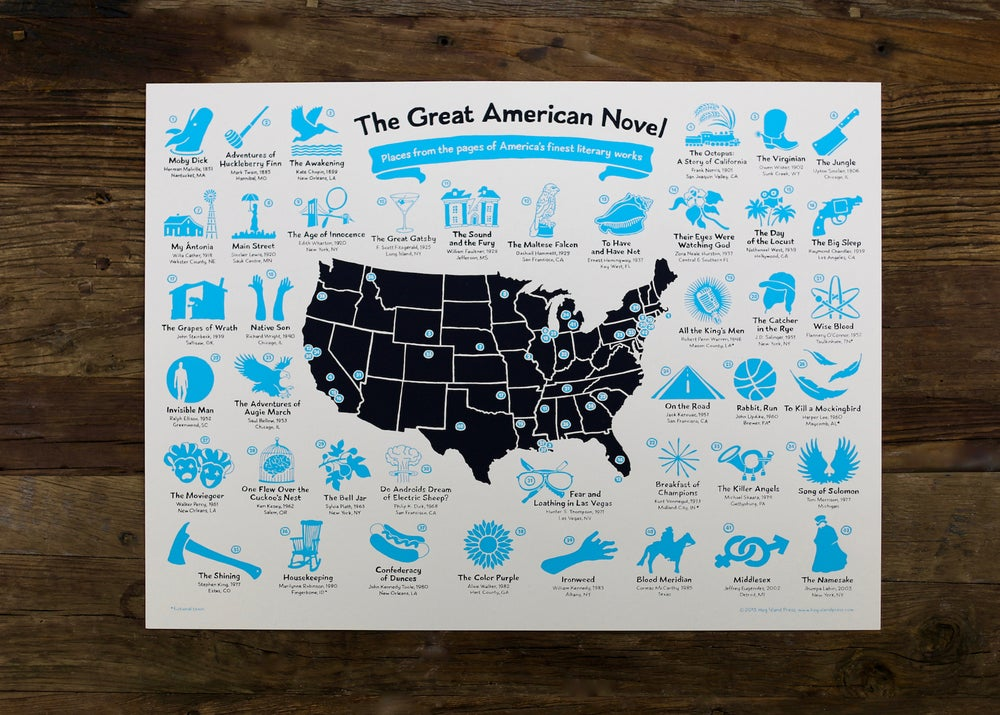 Image of The Great American Novel Map