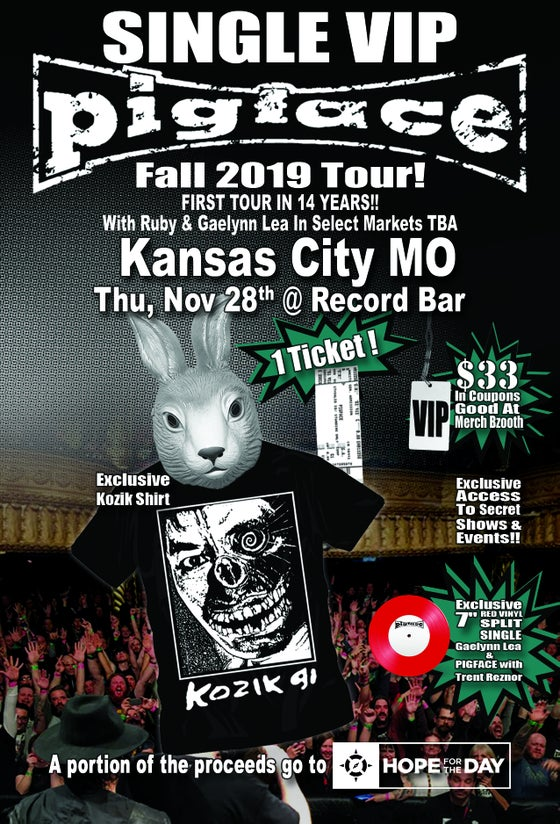 Image of VIP Single Ticket Thurs. Nov. 28th Kansas City, MO @ Record Bar